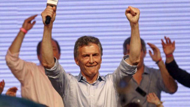 Mauricio Macri, in a file image