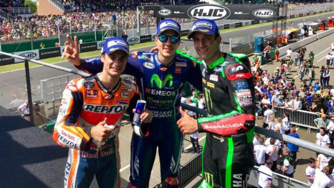 Pedrosa, Viñales y Zarco en el podio de Le Mans.