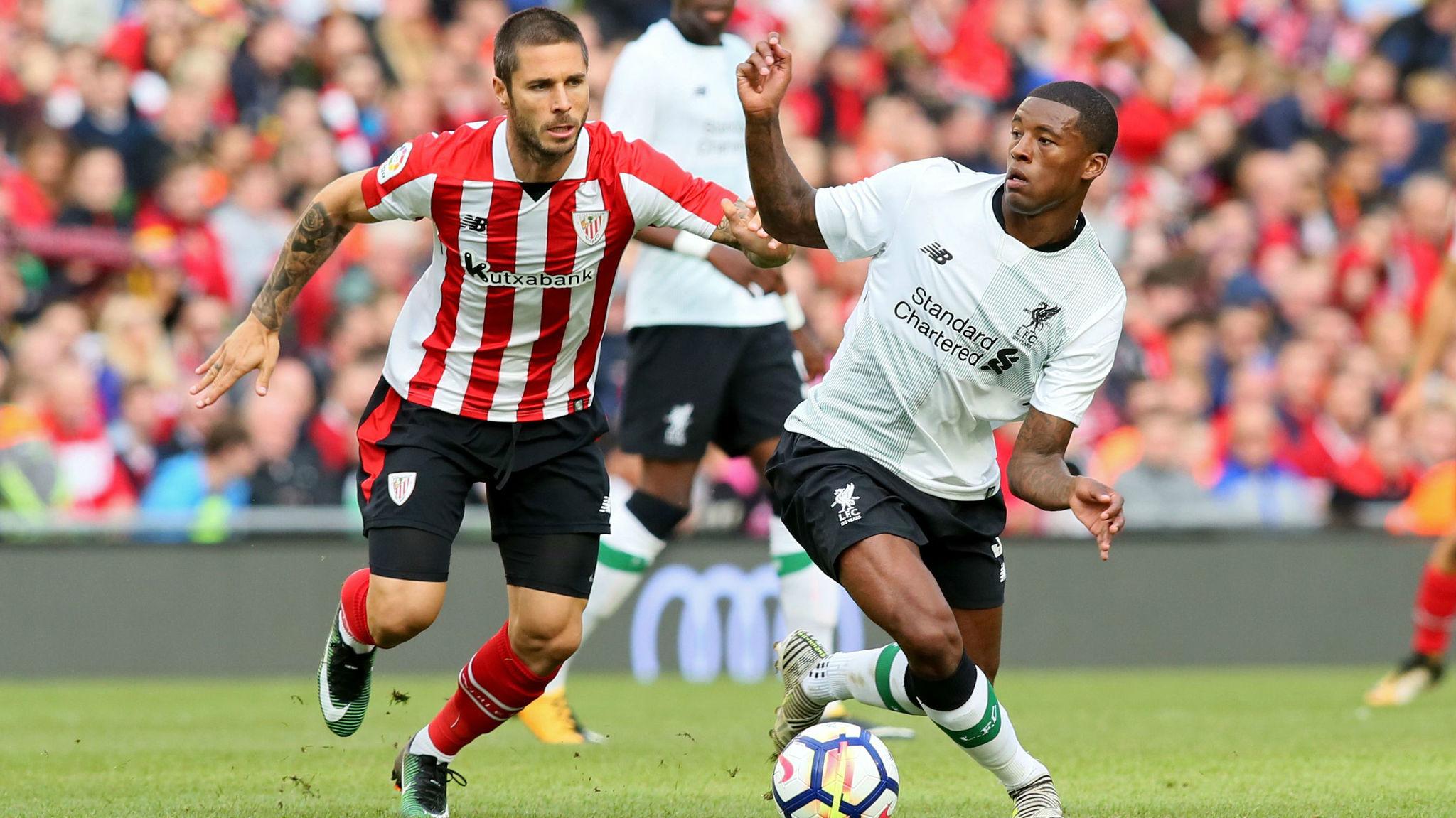 Sola (31), durante el partido de pretemporada frente al Liverpool.