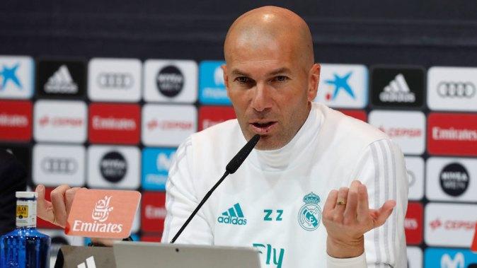 Zidane, este viernes en la sala de prensa de Valdebebas