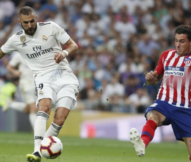Laliga Santander Real Madrid Vs Atletico Madrid Two Goals In