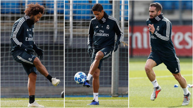 Marcelo, Varane and Carvajal