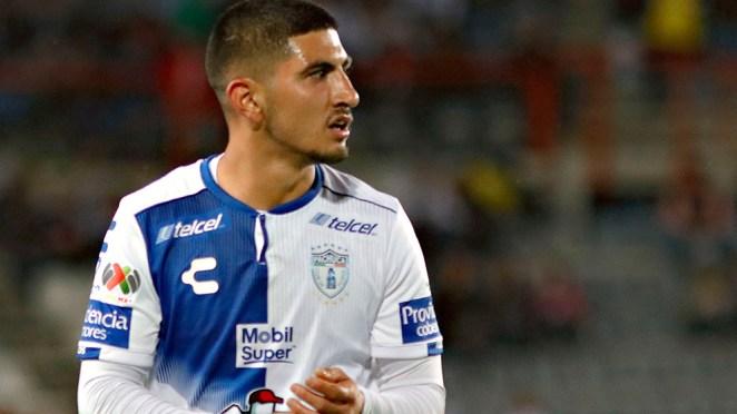Víctor Guzmán durante un partido del Apertura 2018.