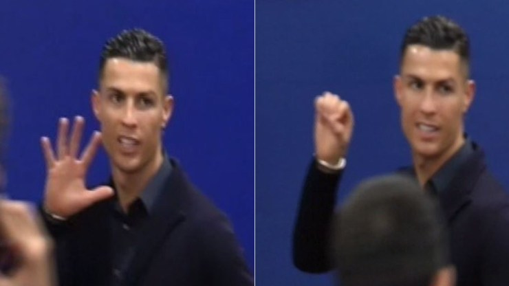 "Cristiano Ronaldo.  Check out Ronaldo's reaction after Juventus' defeat to Atletico on his ""unfruitful"" Madrid return 15507041497449"