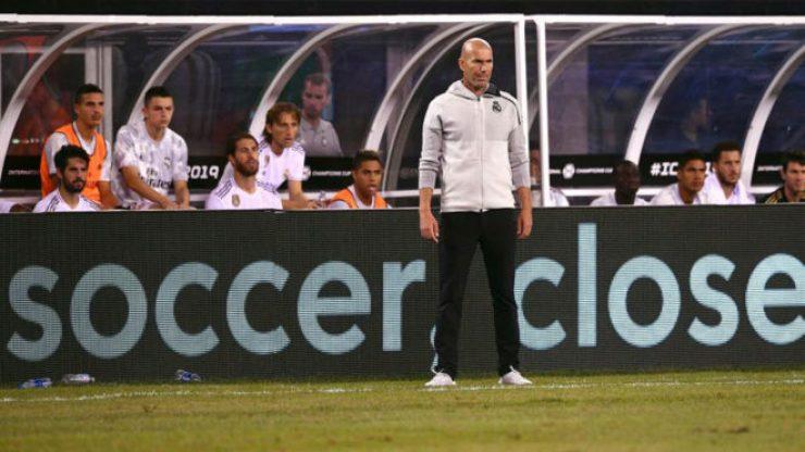 Image result for Zidane vs Tottenham AUDI CUP