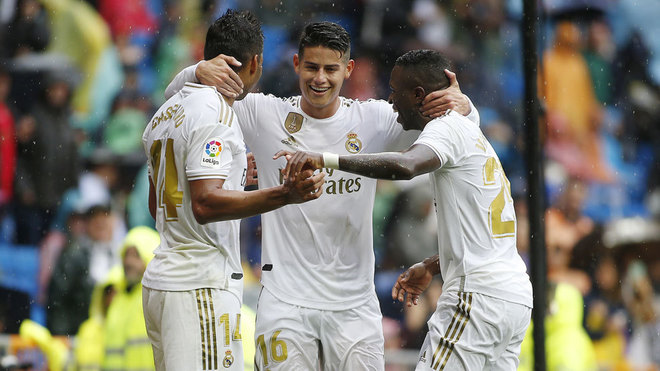 Rodriguez shine for real madrid