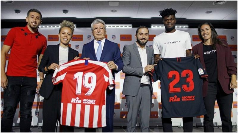 Herrera Sampedro, Cerezo, Cabral, Thomas y Mesenguer con el nuevo...