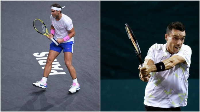 Nadal and Baptist, in action