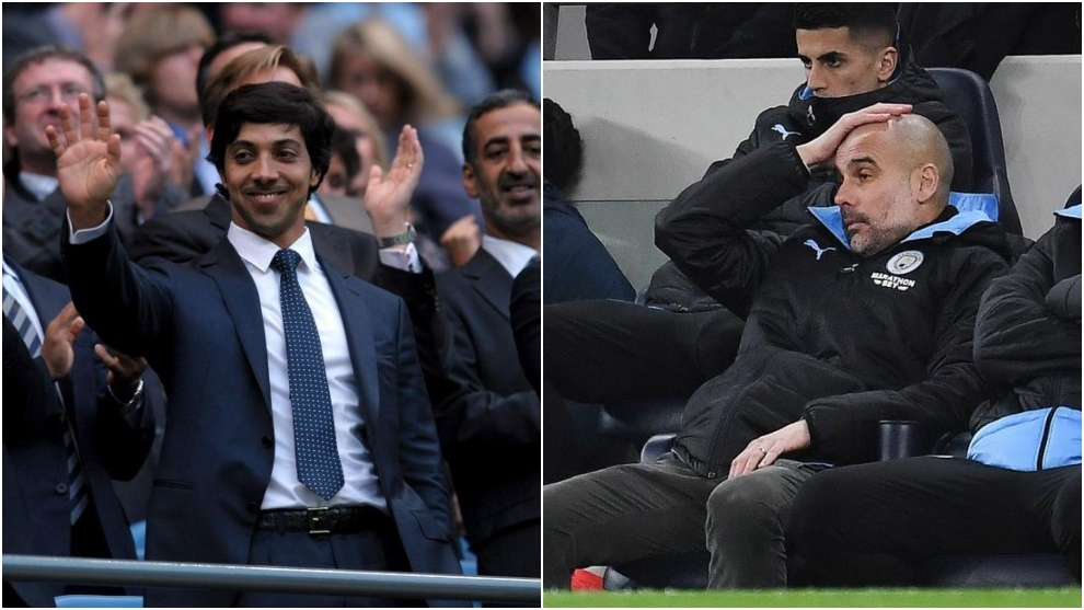 Sheikh Mansour and Pep Guardiola.