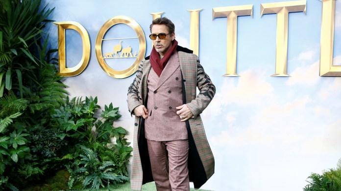 Robert Downey Jr. during the act