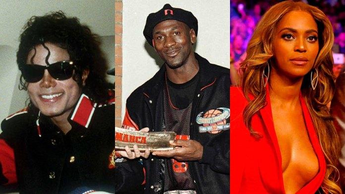 Michael Jackson, Michael Jordan and Beyonce