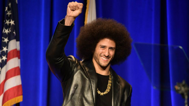 Colin Kaepernick in an act to the end of 2017.