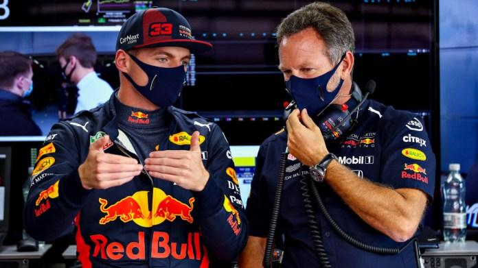 Max Verstappen y Chris Horner.