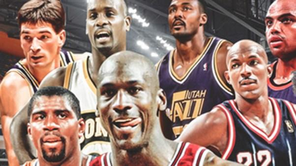 Fotomontaje de las superestrellas de las finales de la NBA