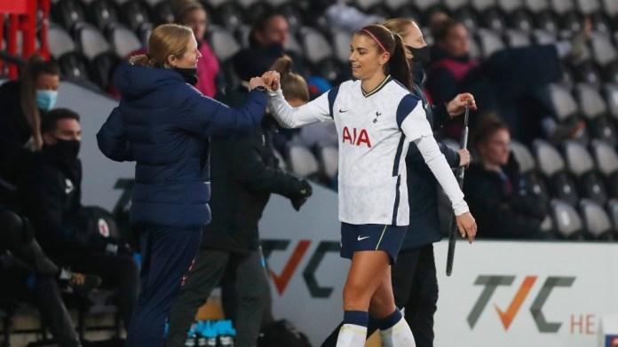 Alex Morgan i jep fund aventurës së saj në Tottenham pas gjysmë sezoni