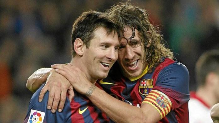 Leo Messi dhe Carles Puyol.