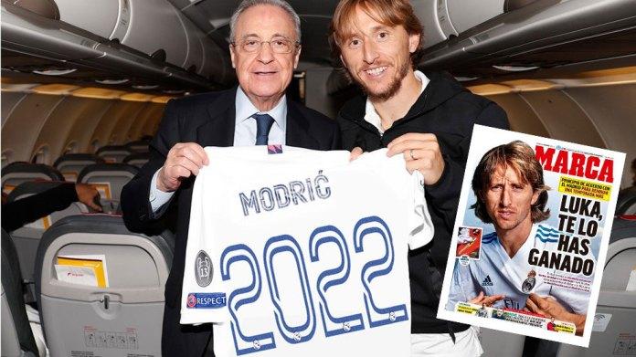 Luka Modric do të nënshkruajë një marrëveshje të re një vjeçare në Real Madrid