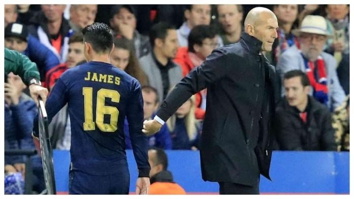 Problemet e fitnesit të James Rodriguez në Everton i japin arsye Zidane
