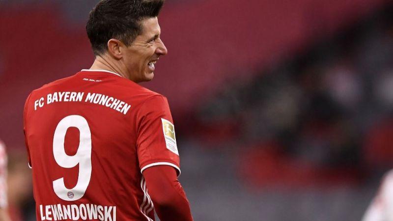 Lewandowski, tras un gol.