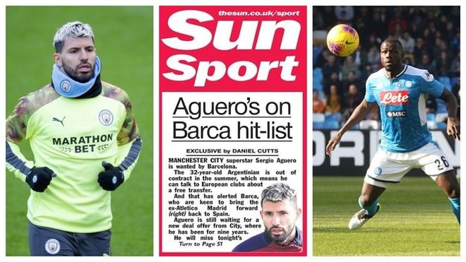 Tregu i Transferimeve LIVE: Barcelona interesohet për Aguero, çmimin e Koulibaly