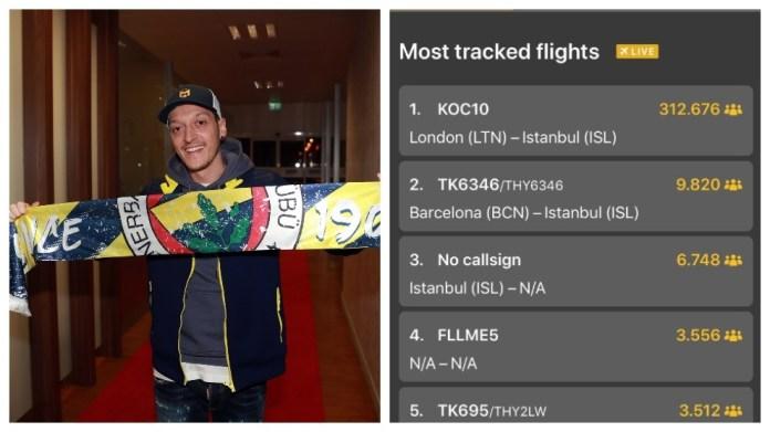 Ozilmania në Fenerbahce: Fluturimi më i ndjekur i të gjitha kohërave