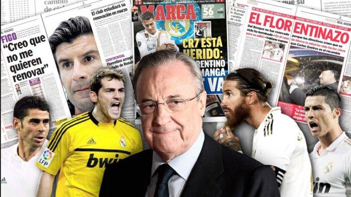 Florentino Perez e vë Real Madridin para legjendave: Figo, Casillas, Cristiano Ronaldo ... Ramos?