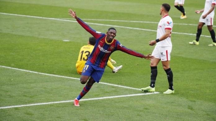 Dembele hapi rezultatin në Sevilla.