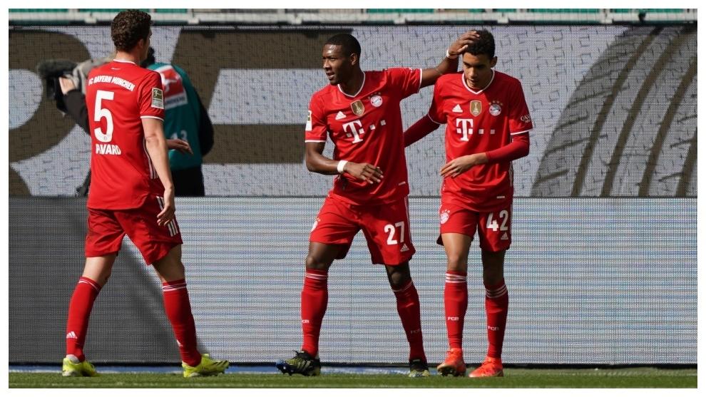 Bayern win in Wolfsburg to restore seven-point Bundesliga lead.