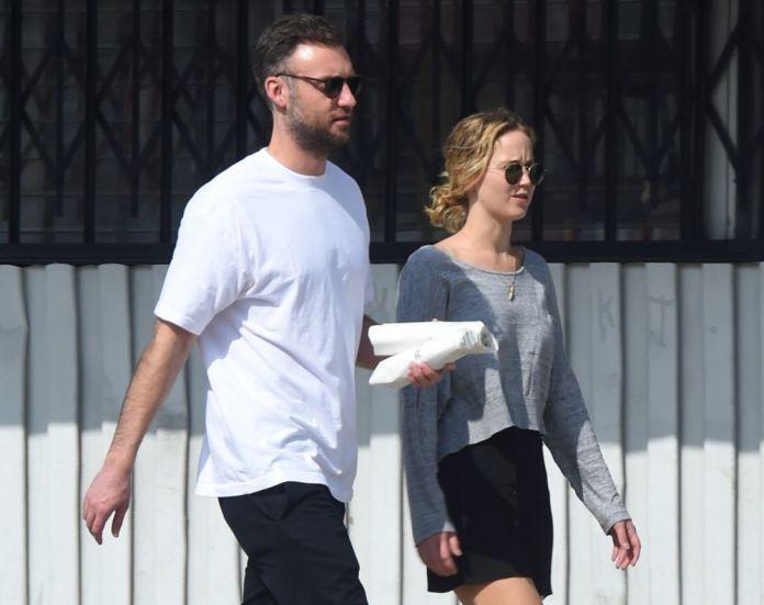 Jennifer Lawrence and Cooke Maroney strolling together
