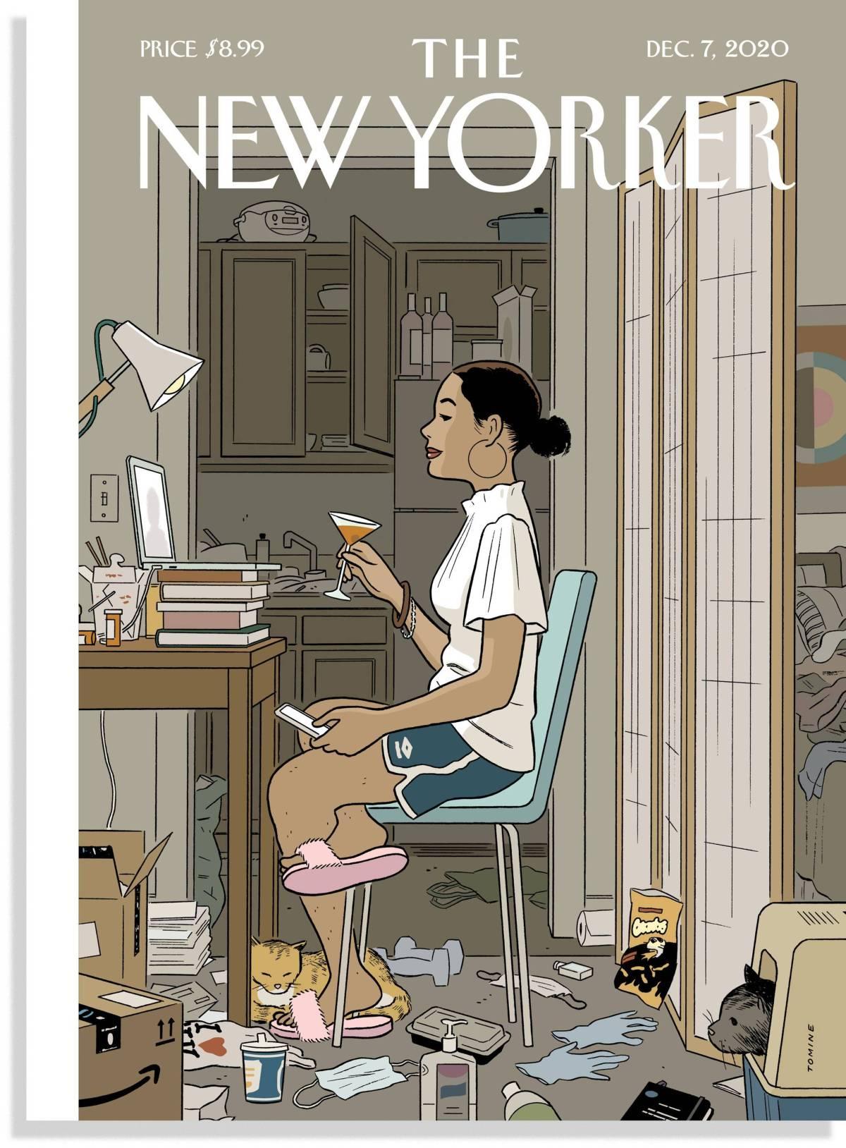 """La portada del """"New Yorker"""" ilustrada por Adrian Tomine, titulada """"Love life"""" (vida amorosa), a la que hace referencia Ana Iris Simón en la entrevista."""