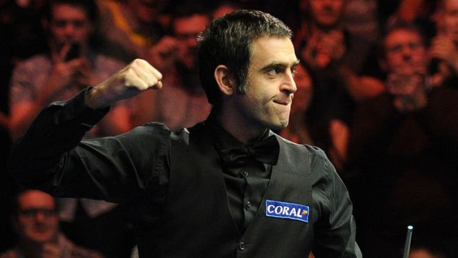 Ronnie O'Sullivan remains on course for his sixth world title