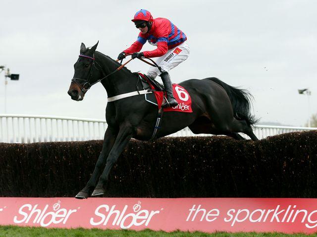 Sprinter Sacre in splendid isolation on his way to landing the Shloer Chase at Cheltenham