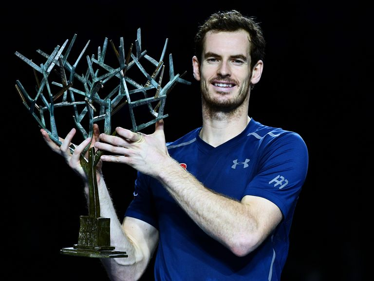 Image result for World number one Murray wins Paris Masters