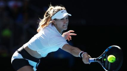 Canada's Eugenie Bouchard has honoured her Super Bowl bet