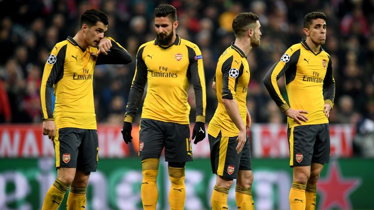 Arsenal are on the verge of being eliminated at the last 16 stage for the seventh straight season