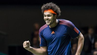Jo-Wilfried Tsonga is closing in on a first ATP title since 2015 after reaching the Rotterdam Open final