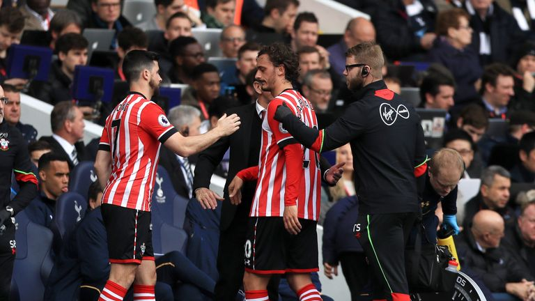Manolo Gabbiadini was taken off injured and was replaced by Shane Long