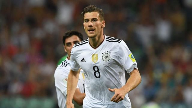 Germany's midfielder Leon Goretzka scored two early goals in Sochi