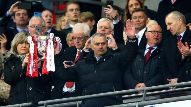 Mourinho lifts the EFL Cup at Wembley
