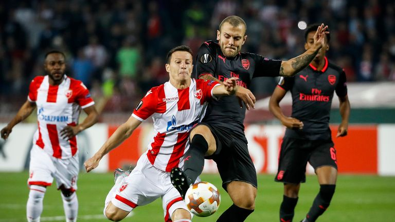 Wilshere is expected to start Thursday night's Europa League game against Red Star Belgrade