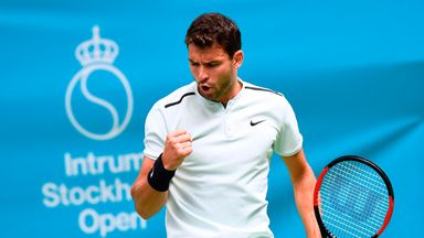 Bulgaria's Grigor Dimitrov reached the Stockholm Open final