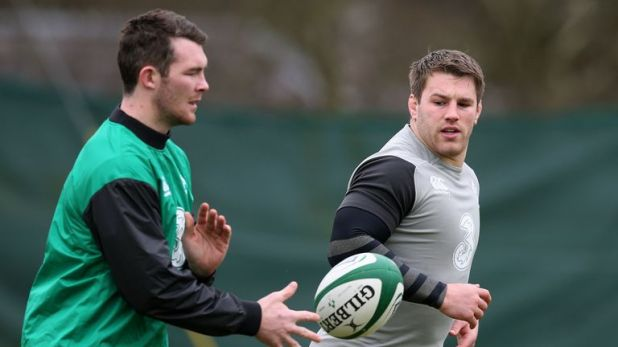 Ireland's Sean O'Brien (right) and Peter O'Mahony were injured for Ireland's 2015 quarter-final loss to Argentina