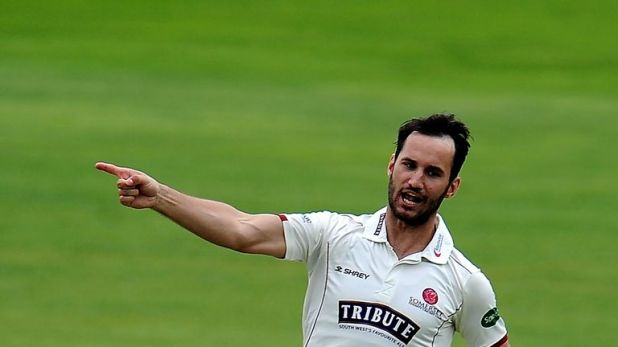 Lewis Gregory had another fine all-round day for Somerset as they took control against Surrey