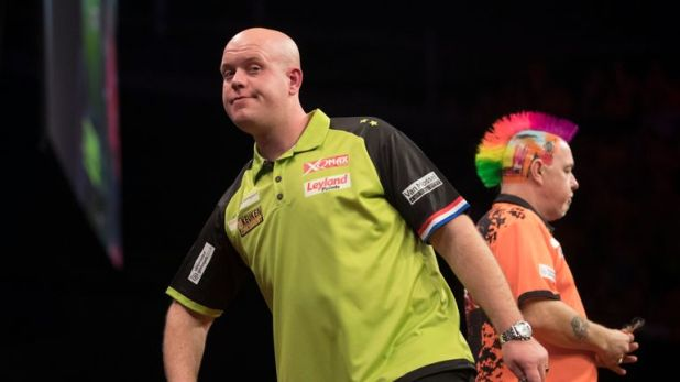 Van Gerwen has 53 wins against Wright - his most against any opponent