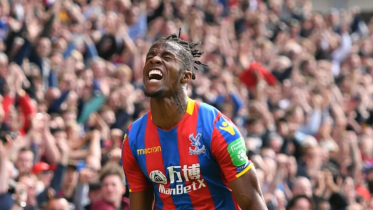 Crystal Palace's Wilfried Zaha is reportedly a Chelsea target