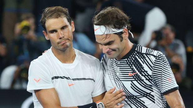 Roger Federer (right) has offered his support to old rival Rafael Nadal