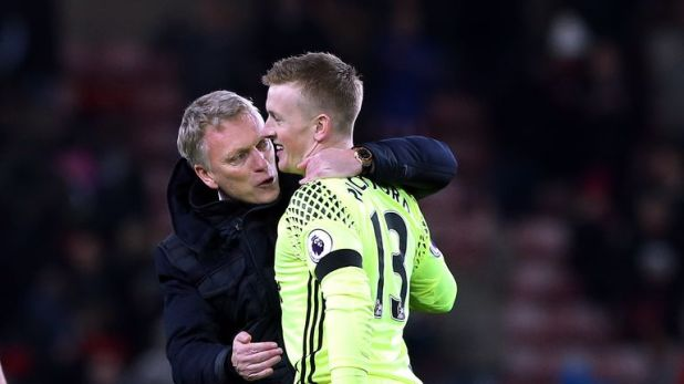 David Moyes managed Pickford at Sunderland during the 2016/17 Premier League season