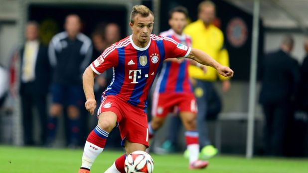 Shaqiri in action for Bayern Munich
