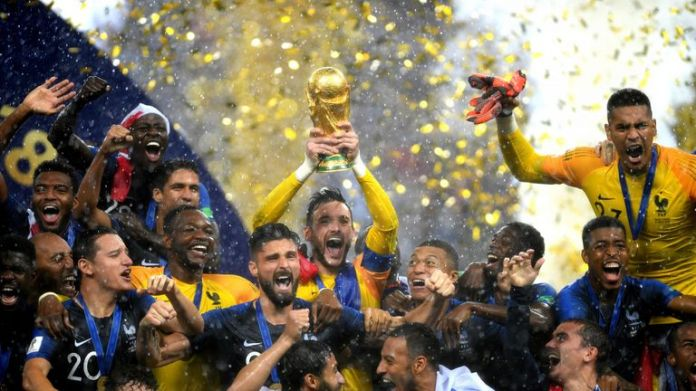 Lloris raised the World Cup trophy after France's 4-2 defeat against Croatia