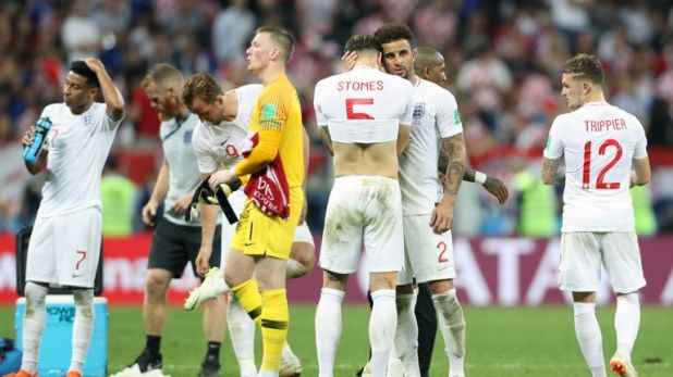 John Stones was in tears after England's semi-final exit in Russia
